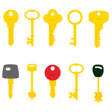 Illustration Of Flat Key Logo ...