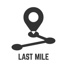 Last Mile Delivery Icon With L...