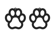 Paw Earrings. Dog Tag For Coll...