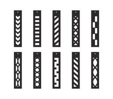 Bar Drop Earrings With Pattern...