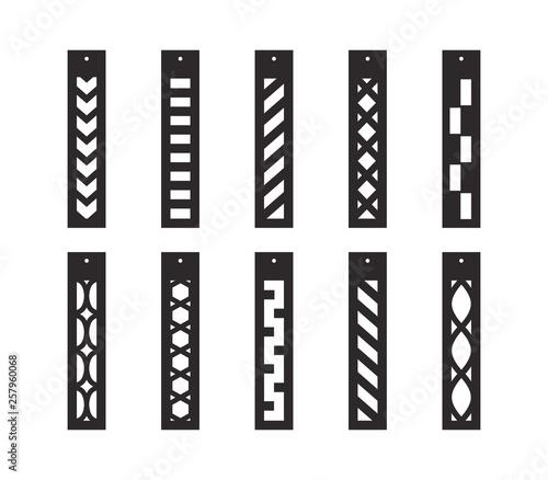Photo Bar drop earrings with pattern