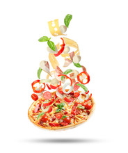 Delicious Pizza With Tomatoes ...