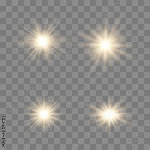 Foto  Set of glowing lights