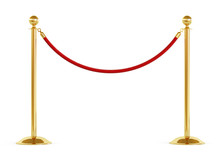 Golden Barrier With Red Rope I...