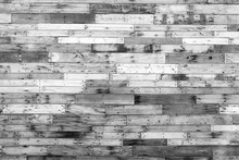 Black And White Reclaimed Barn Wood Wall Background.