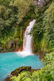 scenic waterfall in tenorio volcano national park