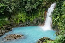 Scenic Waterfall In Tenorio Volcano National Park