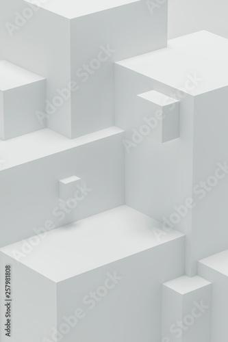 Abstract 3d angular shapes - 257981808