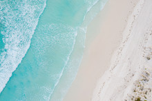 Aerial View Of Sandy Tropical ...