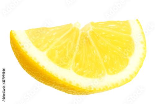 sliced lemons isolated on white background.