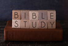 Bible Study Spelled In Block L...