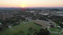 Centennial Park At Sunset, Panning Aerial
