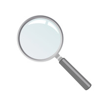 Magnifying Glass Illustration With White Background. Realistic Style.