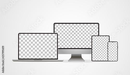 Photo  Laptop realistic