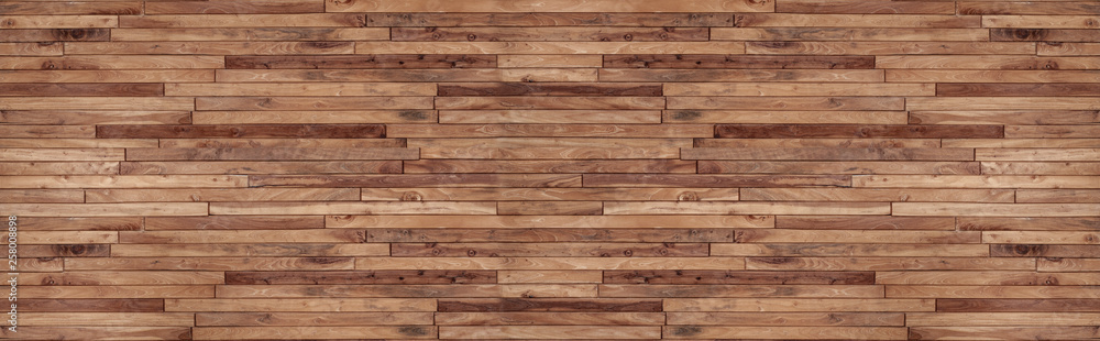 Fototapeta panorama wood wall texture , wooden background ,Beautiful Abstract , brick Texture Banner With Space For Text
