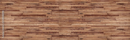 panorama wood wall texture , wooden background ,Beautiful Abstract , brick Texture Banner With Space For Text - 258008898