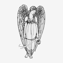 Vintage Angel Illustration