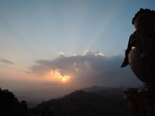 Dawn At Namo Buddha Monastry Nepal