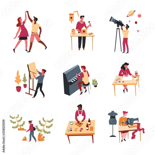 Hobbies leisure activity or pastime art and entertainment Wall mural