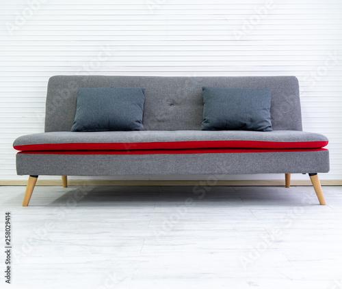 Gray black modern comfortable sofa in living room apartment ...