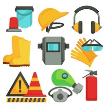 Safety Items Protective Equipment Building Or Construction And Welding Gas Mask