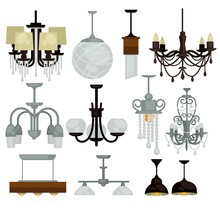 Chandeliers Isolated Interior ...