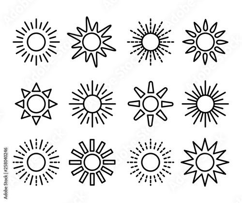 Fotografía Sun symbol collection