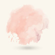 Abstract watercolor blob on white background.