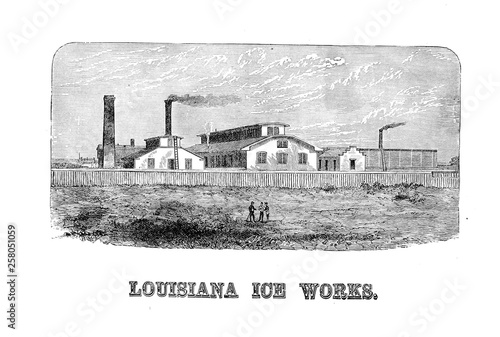 New Orleans. Engraving illustration