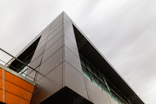 A modern architecture office building exterior view