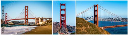 Photo Triptychon Golden Gate Bridge San Francisco