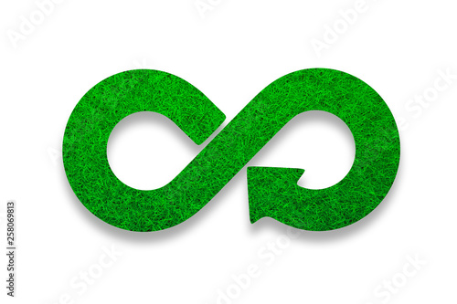 Green Eco Friendly And Circular Economy Concept Infinity
