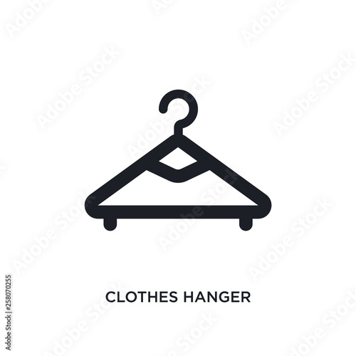 Fotografía  clothes hanger isolated icon