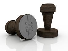 3d Illustration Wooden Round R...