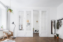 Scandinavian Interior With Glass Door