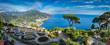 Leinwandbild Motiv Sightseeing Villa Rufolo and it's gardens in Ravello mountaintop setting on Italy's most beautiful coastline, Ravello, Italy
