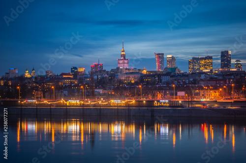 Obraz Panorama miasta, Warszawa, Polska - fototapety do salonu