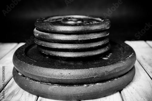 Obraz Ciężarki, hantle - fototapety do salonu