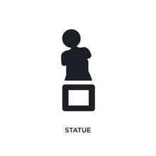 Statue Isolated Icon. Simple E...