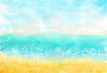 Watercolor Horizontal Colorful...