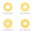 Set of vector logo design template. Sun abstract icons.
