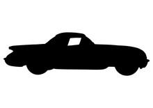 Silhouette Sports Retro Car Vector