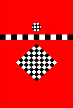Abstract Checkerboard Pattern Of Circle And Squares