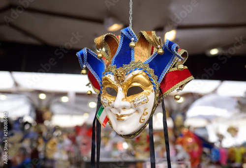 Fototapety, obrazy: Masks sold on the eve of the famous Venetian carnival.