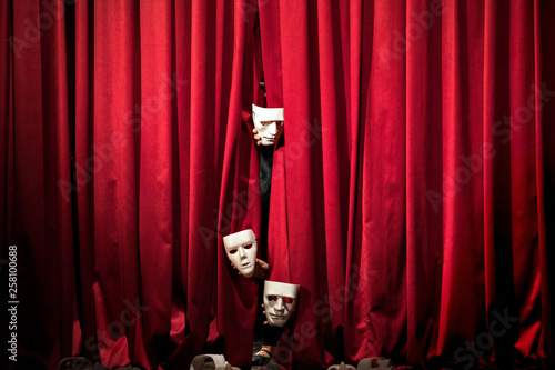 Stampa su Tela  theater / mask