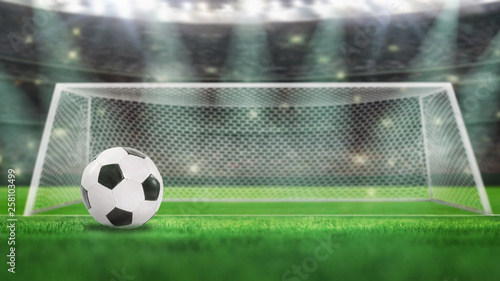 Fotografie, Obraz  Sport Backgrounds. Soccer stadium