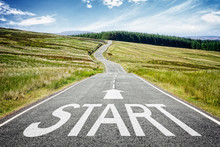 Start Line On The Road Ahead D...
