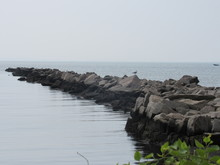 View Of A Breakwater With A Se...