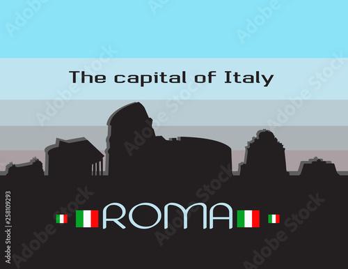 Rome city infographics Canvas Print