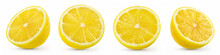 A Half Of Lemon Isolated On Wh...
